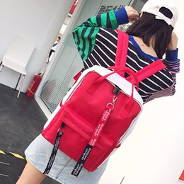cool high school bags NZ - Harajuku Simple Canvas Women's Backpack High Quality School Bags For Teen Girls Shoulder Bag Cool Travel Backpack Shopping Bags