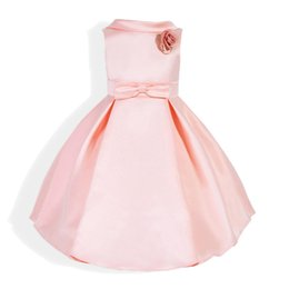 8e3061e8e88 New Arrival Flower Girls Dresses Ball Gown dress camellia Peter pan collar  Children Fashion Sleeveless Party Graduation Formal Kids Clothing