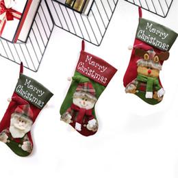 $enCountryForm.capitalKeyWord Australia - Christmas Stocking Xmas Stock Cloth Shop Home Decor New Year Fireplace Market Candy Bag Party Ornaments Hanging
