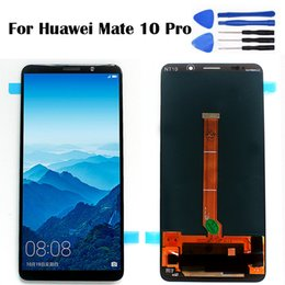 "Huawei Mate Lcd Display Touch Screen Australia - 6.0"" For Huawei Mate 10 Pro LCD 6.0 inch Display Mobile Phone LCD Touch Screen Digitizer Sensor Assembly BLA-L09 BLA-L29 Free To"