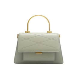 Metal handle handbags online shopping - Designer Bag Women Metal Handle Embroidery Thread Flap Messenger Bag Handbag