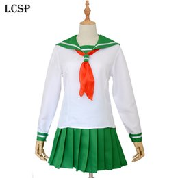 Sailor Female Costume Australia - ostumes Accessories Cosplay Costumes LCSP Inuyasha Higurashi Kagome Cosplay Costume Japanese Anime Adult Girl School Sailor Uniform Outfi...