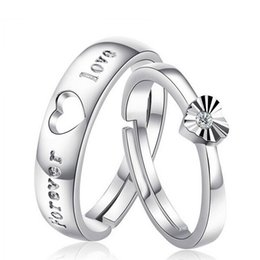 91fafb55a9 One Free Shipping Hot Selling Hollow Heart Silver Color Ring Forever Love  Couple Ring for Women Men High Quality Valentine's Day Gifts