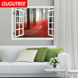 stick window decals Australia - Decorate home 3D windows cartoon art wall sticker decoration Decals mural painting Removable Decor Wallpaper G-873