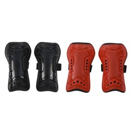 ankle support pad UK - 2Pair Black Red Durable New 1 Pair Competition Pro Soccer Shin Guard Pads Shinguard Protector