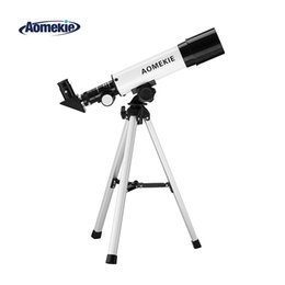 moon toys UK - wholesale F36050 Beginner Astronomical Telescope 18X-90X Moon Watching Monocular Telescopio with Compact Tripod for Kids Toy Gift