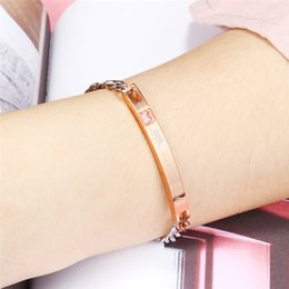 441e597084 Europe and America Iced Out Couple bracelet stainless steel Prevent allergy  chain unisex Jewelry new Bracelets High grade jewelry wholesale