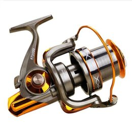 Collapsible Handle Australia - 13+1 BB Fishing Reel Left Right Collapsible Handle Fishing Spinning Reel GT 4.6:1 AT8000   AT9000 for Carp Pesca