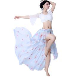 $enCountryForm.capitalKeyWord Australia - Women Dancing Irregular Bellydance Dress Belly Dance Costume High Waist Maxi Skirts Summer Latin Performance Dancewear Clothes