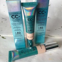 Großhandel Frauen Kosmetik CC + Creme Öl-Free Matte 32ml poreless Finish Full Coverage Creme feuchtigkeitsspendende Serum Concealer Make-up von Epacket