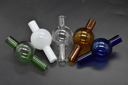 oil bubble pipe rigs UK - Universal Colored glass bubble carb cap round ball dome for XL thick Quartz thermal banger Nails glass water pipes, dab oil rigs