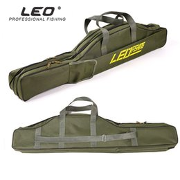$enCountryForm.capitalKeyWord Australia - Leo 1m 1.5m Army Green Foldable Big Belly Fishing Rod Soft BagTwo Layer Cloth Protable Durable Fishing Tackle Carrier Bag Pesca #861483