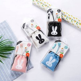wholesale bags good brands 2019 - Rabbit Bag in-ear Earphone Wired Earphone Moving Coil Good Sound Quality Music Earphone With Microphone For Xiaomi Huawe
