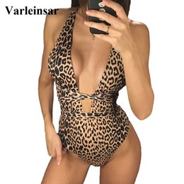 $enCountryForm.capitalKeyWord Australia - Deep V Neck Wrap Around One Piece Swimsuit Women Swimwear Female 2019 Bather Leopard High Cut Bathing Suit Swim Monokini V742 Y19072301
