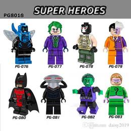Blue Beetle Toys Australia - Super Heroes Blue Beetle Joker Bane Black Manta Beast Boy Riddler Toys for children PG8018