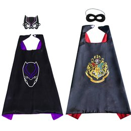 Cotton mask for kids online shopping - Harry Potter Capes and mask sets cartoon cosplay Costumes cape mask set Halloween cape mask for Kids CM C5874