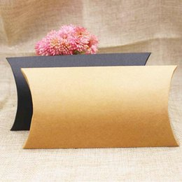 $enCountryForm.capitalKeyWord NZ - FeiLuanCustom 30pcs paper gift box candy favor packing pillow box brown black color gift packing & display custom cost extra