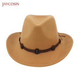 Discount cowboy apparel Jaycosin Unisex Adult West Cowboy Hat Mongolian Hat Grassland Sunshade Cap Outdoor Apparel Accessories 2020 Femme Vintag