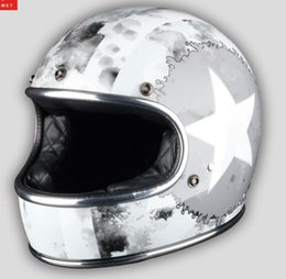 face off motorcycle helmet Australia - 2019 Full face motorcycle helmet retro cafe racer jet capacetes de motociclista off road thompson cascos para moto