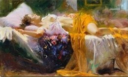 $enCountryForm.capitalKeyWord Australia - A67HD40Free Shipping,Sleeping Beauty by Pino Daeni,Handpainted HD Print famous Impressionist Art Oil Painting On Canvas,Mulit customized siz
