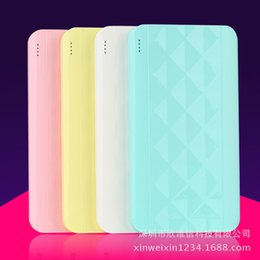 gift power bank NZ - New Style Ultra-Thin Dual USB Power Bank Card Polymer Power Bank 4000 Milliamps over UV Gift-Sale
