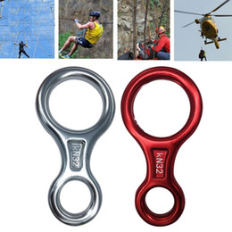 tree gear Canada - Outdoor Climbing Tree Rock Figure Eight Rappeling Safety Ring Descent Control Device Protector Rescue Gear Equipment accessories