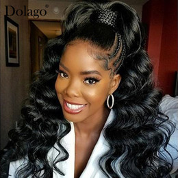 $enCountryForm.capitalKeyWord Australia - Lace Frontal Wig Pre Plucked With Baby Hair 150% Density Loose Wave Brazilian Lace Front Human Hair Wigs Perstar Remy