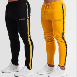 $enCountryForm.capitalKeyWord UK - New vanquish Fitness Men Sportswear Tracksuit Bottoms Skinny Sweatpants Trousers Black Gyms Jogger Casual Pants
