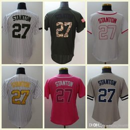 4631b5c66 Mens Women Youth Mothers Day Memorial Day Flexbase 27 Cruz White Navy Grey Pink  Coolbase Stitched Baseball Jerseys S-3XL