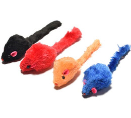 $enCountryForm.capitalKeyWord UK - 2 inch plain Plush mouse and cat toys The rustling Plush color mouse teasing cat toy WL444