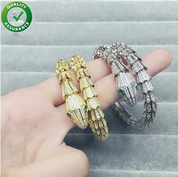 ice screws 2019 - Luxury Designer Jewelry Women Bracelets for Love Diamond Tennis Bangles Screw Cuff Bracelet Iced Out CZ Snake Pandora St