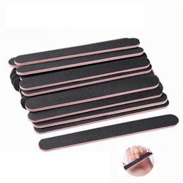 Toptan satış Nail Art Zımpara Salon Tampon Tırnak Dosyalar Zımpara Manikür UV Jel polisaj Manikür Pedikür Tırnak Araçları 100Pcs / lot RRA1393