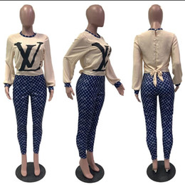 through leggings Canada - fashion pattern Print Mesh Spliced Two Piece Set 2020 Women Long Sleeve See Through Bodysuit leggings slim 2 Piece Outfit