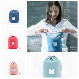 Hang drums online shopping - fashion color Drum Cosmetic Bags fashion Cosmetic Storage Bag Travel Cosmetic Finishing Bag Travel Bags T2D5021