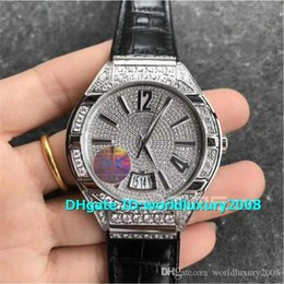 $enCountryForm.capitalKeyWord Australia - Top Polo MK Stainless Steel Diamond Dial Mens Watch Swiss 800P Automatic 28800VPH Sapphire Crystal Black Leather Strap Water Resistance