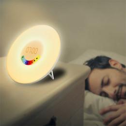 Novo Chargeable Saudável Despertador Digital Descoloração Assista Aço + Plástico Quarto Acordar luminosa LED Lâmpada Homens Mulheres Relógio