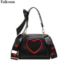 Summer Ladies Handbag Australia - Women Handbags Crossbody Shoulder Fashion PU Leather Love Heart Women Messenger bag girl Soild Color Lady Handbags Summer