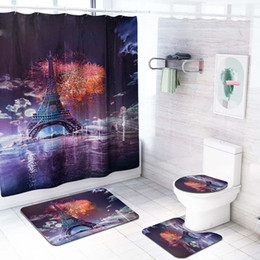 Home & Garden Reasonable 3d City Night View 8 Shower Curtain Waterproof Fiber Bathroom Windows Toilet Curtains, Drapes & Valances