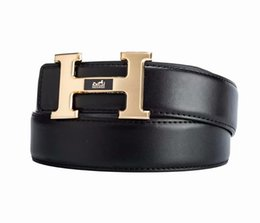 Leather Belt Clips Australia - 2018 Famous Brand Men clip smwooth buckle Belt Men High Quality Genuine Leather Desdigner Belts for Men Size 105-125cm 5color chose