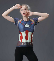 $enCountryForm.capitalKeyWord Australia - New Avenger Alliance women's print tights Superman Batman Superhero Running Fitness Quick-dry Sports T-shirt Explosive money
