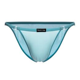 42013239b52e Men Ice Silk Underwear Briefs Sexy See Through Bikini Freely Adjustable  Waist Transparent Briefs Shorts Pouch Erotic Lingerie