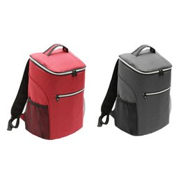 Picnic Ice Packs Australia - Oxford Large Capacity Cooler Bag Thermo Lunch Picnic Box Insulated Cool Backpack Ice Pack Fresh Carrier Thermal Bags 20L