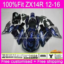 $enCountryForm.capitalKeyWord Australia - Injection For KAWASAKI NINJA ZZR 1400 ZX 14R 2012 2013 2014 2015 2016 73HM.50 ZX-14R ZZR1400 ZX14R 12 13 14 15 16 OEM Fairing Silver blue