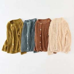 $enCountryForm.capitalKeyWord UK - Baby Girls Coats 2019 Summer Children Cotton Knitted Cardigan Sun Protection Clothes Kids Long Sleeve Sweater Jacket