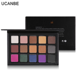 matte eye shadow kits Australia - Original UCANBE Quality Big 15 Colors Matte Shimmer Eyeshadow Palettes Waterproof Radiant Pigment Eye Shadow Nude Makeup Cosmetics Kit