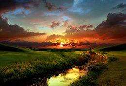 $enCountryForm.capitalKeyWord Australia - Beautiful Red Countryside Sunset wall decor Art Silk Print Poster 88