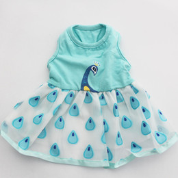 princess dog shirt UK - Dog Pet Dress Tutu Shirt Peacock Design Cat Puppy Skirt Princess Spring Summer Clothes 5 Sizes