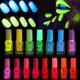 Glow dark nails polish online shopping - 20Colors Candy Nail Art Nagellak Nail Lacquer Luminous Fluorescent Neon Polish Glow In The Dark Vernis A Ongle Fast Dry ml