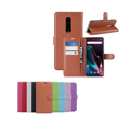 $enCountryForm.capitalKeyWord Canada - For Oneplus 7 Pro One Plus 7 Pro Litchi Grain PU Wallet Leather Flip Cover Case 2019 Hot Selling Goods