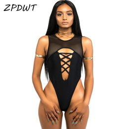78cddf9be0d Mesh Thong Swimsuit NZ - ZPDWT 2017 High Cut Bathing Suit One Piece  Swimsuit Mesh Monokini